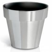 Горшок для цветов CUBE chrome silver 200мм