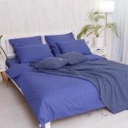 """Евро комплект постельного белья """"Blue""""  поплин"""