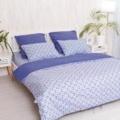 """Евро комплект постельного белья """"Royal blue""""  поплин"""