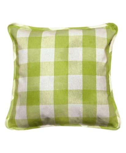 Наволочка декоративная Кантри зелёная 45х45 см
