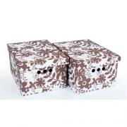 Набор картонных ящиков для хранения А4 цветы 2шт 0611.11