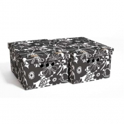 Набор картонных ящиков для хранения А4 черная мальва 2шт 0611.14