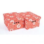 Набор картонных ящиков для хранения А4 красный мак 2шт 0611.16