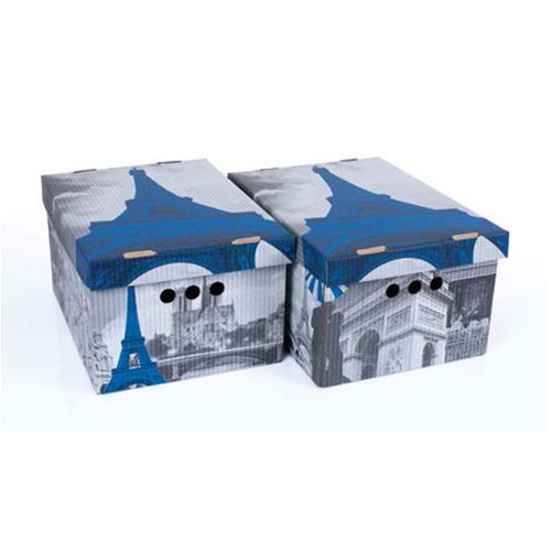 Набор картонных ящиков для хранения А4 Paris 2 шт 0611.17
