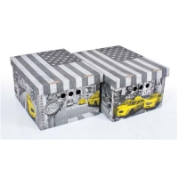 Набор картонных ящиков для хранения А4 NY  2 шт 0611.19