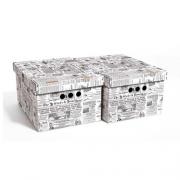 Набор картонных ящиков для хранения А4 газета 2шт 0611.2