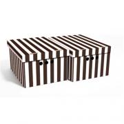 Набор картонных ящиков для хранения А4 коричневые полосы 2шт 0611.23