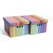 Набор картонных ящиков для хранения А4 радуга 2 шт 0611.24