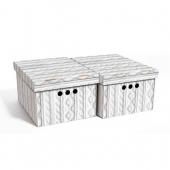 Набор картонных ящиков для хранения А4 ажур 2 шт 0611.27