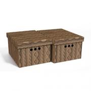 Набор картонных ящиков для хранения А4 коричневый ажур 2шт 0611.28