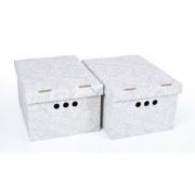 Набор картонных ящиков для хранения А4 роза 2шт 0611.7