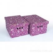 Набор картонных ящиков для хранения А4, тюльпан 2 шт.