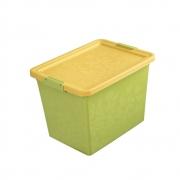 Ящик для хранения с крышкой Жасмин, 22л зеленый