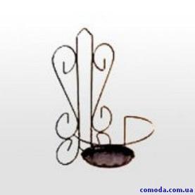 Держатель для цветов настенный Сердце большой (металл)