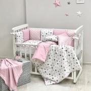 Постельный комплект Baby Design Stars розовый 6 ед.