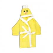 Детский махровый халат (9-10 лет), жёлтый