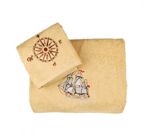Набор махровых полотенец «Морские приключения»