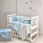 Постельный комплект Baby Design Stars голубой 6 ед.