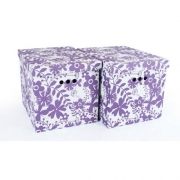 Набор картонных ящиков для хранения XL фиолетовые цветы 2шт 1217.12