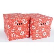 Набор картонных ящиков для хранения XL красный мак 2шт 1217.16