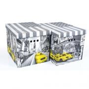 Набор картонных ящиков для хранения XL NY 2шт 1217.19