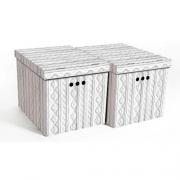 Набор картонных ящиков для хранения XL ажур 2шт 1217.27