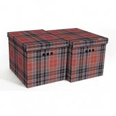 Набор картонных ящиков для хранения XL шотландка 2 шт 1217.4