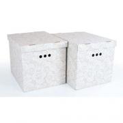 Набор картонных ящиков для хранения XL роза 2шт 1217.7