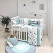 Постельный комплект Baby Design Stars мятный 6 ед.
