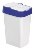 Ведро для мусора с крышкой белое 35л, REFUSE Push&Up, 33*26*51см