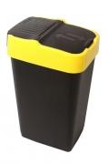 Ведро для мусора с крышкой черное 60л, REFUSE Push&Up