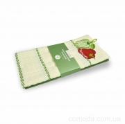 Набор вафельных кухонных полотенец 2 шт. 45х70 Перец зеленый