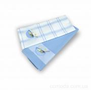 Набор вафельных кухонных полотенец 2 шт. 45х70 Голубой венчик