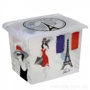 """Ящик для хранения """"France"""" 20,5л с крышкой 1554"""