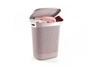 Корзина для белья Drop 52 л Пурпурно-розовая 170004.1
