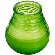 Свеча в стекле Patio light 94/91мм цвет лайм зеленый 180374