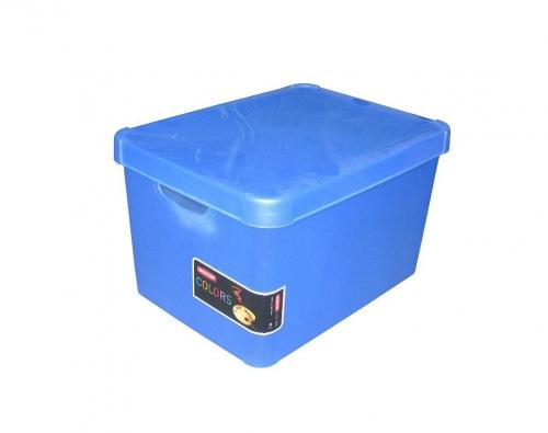 Ящик для хранения 23л Deco`s STOCKHOLM синий 1812