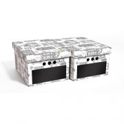 Набор картонных ящиков для хранения А4 WINDOWS 1819.1  2шт