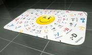 Коврик для ванной tatkraft 3d emotions из микрофибры c противоскользящим основанием 50х80 см 14893