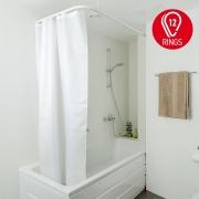 Шторка тканевая для ванной комнаты grain с металлическими кольцами. размер 180*180 17344