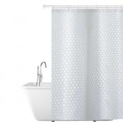 Шторка тканевая для ванной комнаты 180х180см, водонепроницаемый материал tatkraft purl 17382
