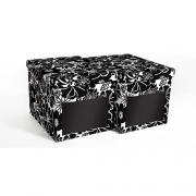 Набор картонных ящиков для хранения XL черная мальва  2шт 2021.2