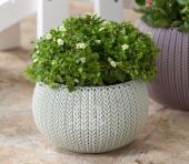 Горшок для цветов 36 см Cozies M, светло-серый