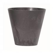 Горшок для цветов TUBUS EFFECT 400мм круглый антрацит мраморный 66114-433