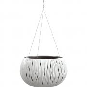 Горшок для цветов круглый Sandy Bowl WS с вкладыш.подвес, 370мм белый