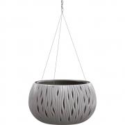 Горшок для цветов круглый Sandy Bowl WS с вкладыш.подвес, 290мм серый