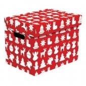 Ящик для хранения картонный ONE рождество красный 2437.32