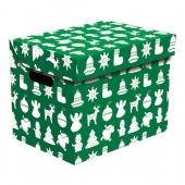 Ящик для хранения картонный ONE рождество зеленый 2437.31