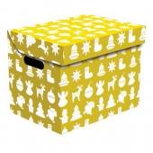 Ящик для хранения картонный ONE рождество золотой 2437.34