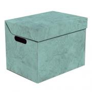 Ящик для хранения картонный ONE бирюзовый мрамор 2437.42